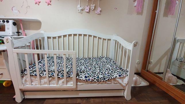 Детская кроватка 70×140 +матрас