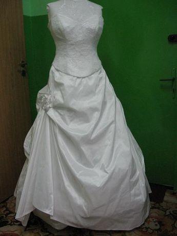Suknia ślubna biała 2 częściowa r.38