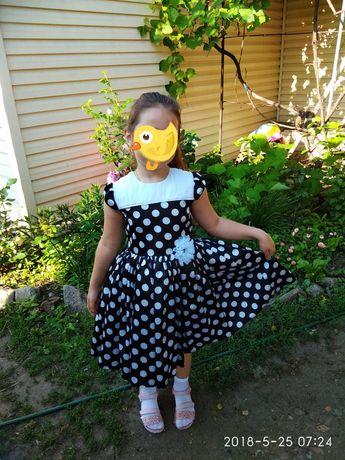 Платье нарядное на девочку в ретро стиле+ бантик на гульку в подарок