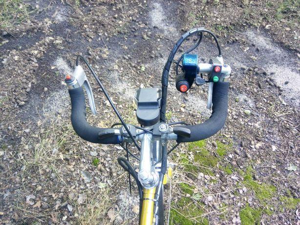 Гравийный Электро велосипед 350 ватт 36 вольт Li-ion 17 ампер/час