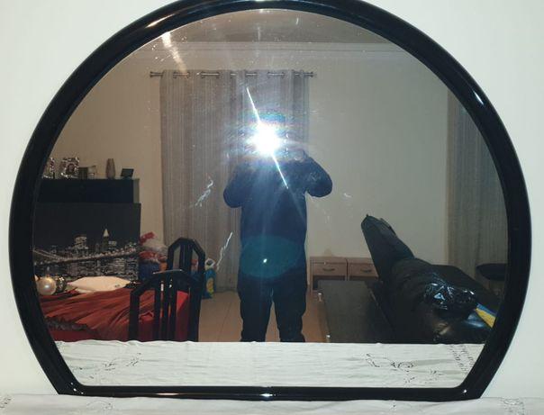 Espelho preto lacado