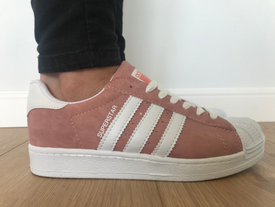 Adidas Superstar. Rozmiar 38. Różowe - Białe paski. Super cena! Dulowa - image 1