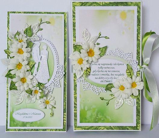 Kartka na ślub w ozdobnym pudełku