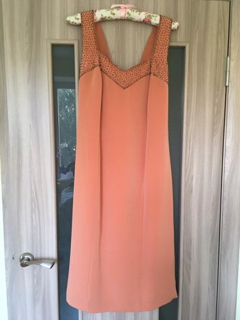 Красивое платье на мероприятие Л Итальянское платье с бисером Плаття