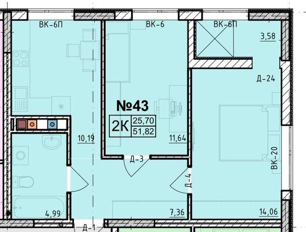 ЛФ8- 2-х комнатная кв. в ЖК Акварель-8 в РАССРОЧКУ без комиссии