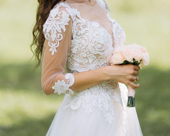Свадебное платье/ весільна сукня S-M