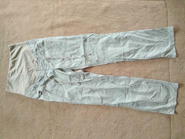 Spodnie ciążowe, bojówki beżowe r.38, długie lub rybaczki