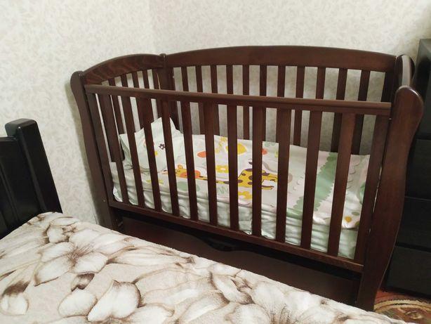 Детская кроватка Верес Соня ЛД16 с маят и матрас Flitex Latex Coconut.