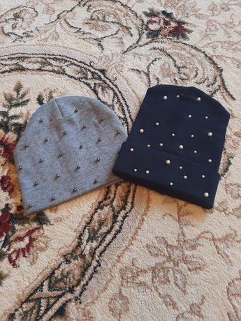 Шапки жіночі синя та сіра