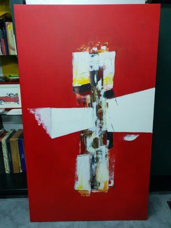 Quadro em tela vermelho encarnado