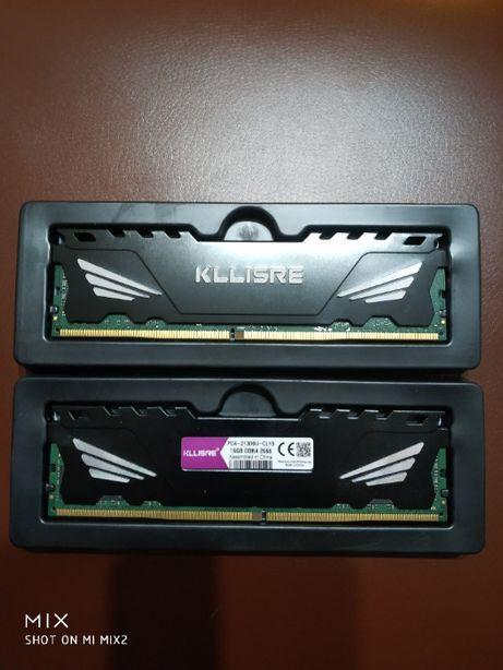 Опер.память для ПК SDRAM,Kllisre,DDR4,32Gb,2666MHz,PC4-21300U,CL19