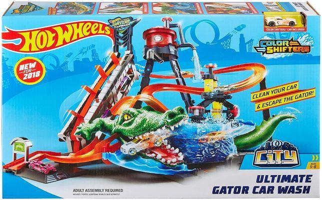 Трек Автомойка Mattel Hot Wheels FTB67 Ultimate Gator Car Wash хотВилс
