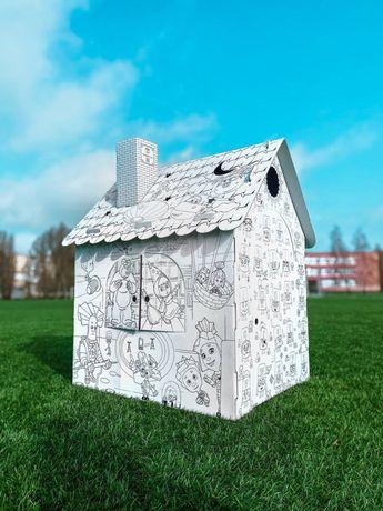 Киев ! Детский картонный домик раскраска!
