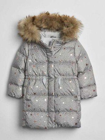 Супер крутое фирменное зимнее пальто gap на девочку 3 4 5 лет