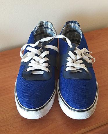 Buty tenisówki niebieskie