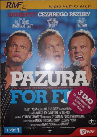 Pazura for Fun & Fan Kabarery 3 płyty dvd