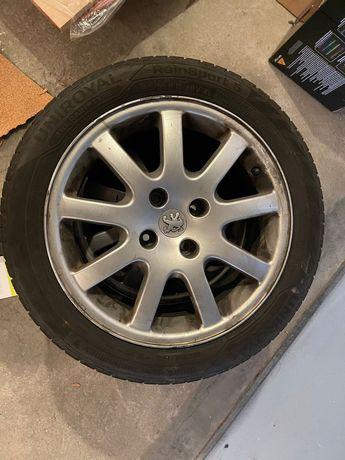 Peugeot felgi koła 16  6 1/2J Uniroyal Rain Sport 5 xl 2020