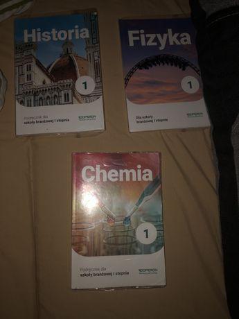 Książki do  szkoly branżowej  1 stopnia (chemia,Historia ,Fizyka)