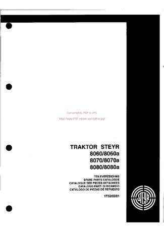 Katalog części Steyr 8060,-8080 - 1TS 202-81