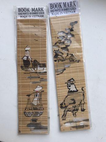 Оригинальный подарок закладки из Вьетнама роспись на бамбуке