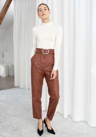 Кожаные штаны брюки & other stories cos