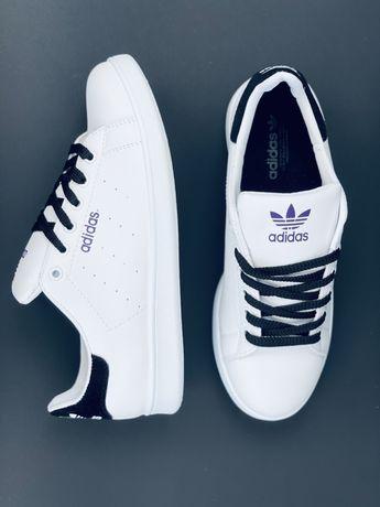 Шкіряні кросівки кеди Адідас, кроссовки Adidas, НОВИНКА  Адидас Кожа!