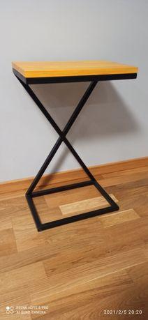 Stolik kawowy loft ,półka