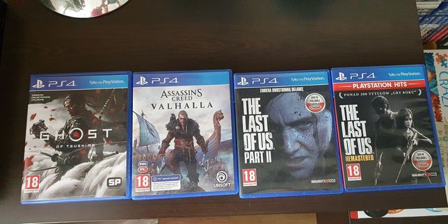 Gry na ps4 Ghost ,assassins, The last of us
