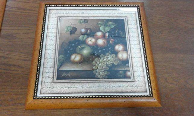 2 Quadros decorativos, molduras com vidro (novos)