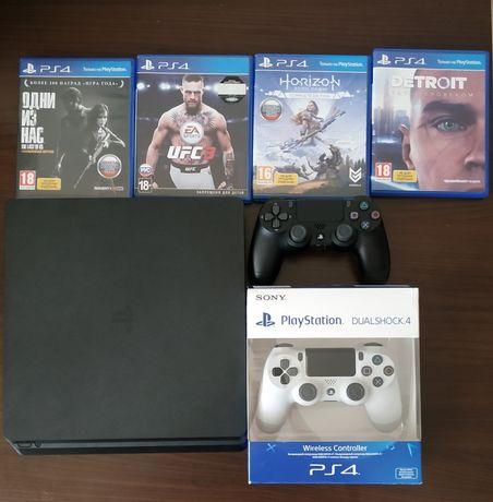 PlayStation 4 Slim 1TB (4 игры )