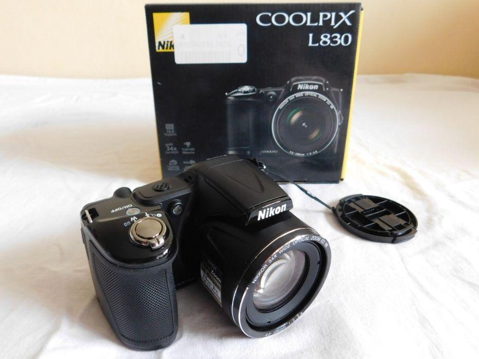Новый фотоаппарат Nikon Coolpix L830 Black ультразум 34x + сумка Днепр - изображение 1