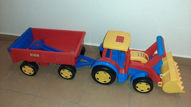 Traktor Wader z przyczepą i ładowarką 66300 jak nowy