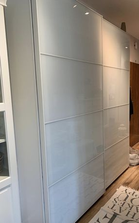 Szafa # IKEA # PAX # Biala # szklane drzwi # 200cm x 42cm