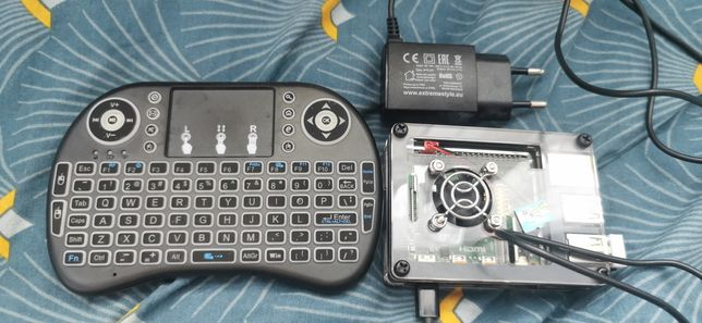 Raspberry pi 4B 4Gb + WiFi + klawiatura + SD32Gb