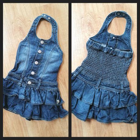 Pomp de lux jeansowa sukienka r. 104 dla małej modnisi