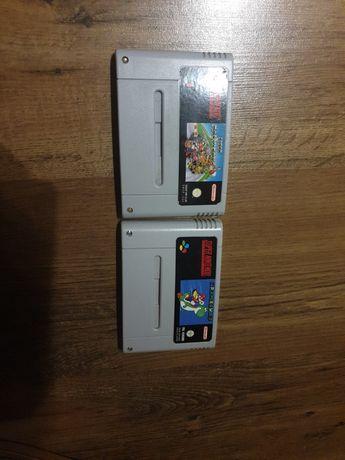 2 gry Super Mario Kart Super Mario World Snes Super Nintendo