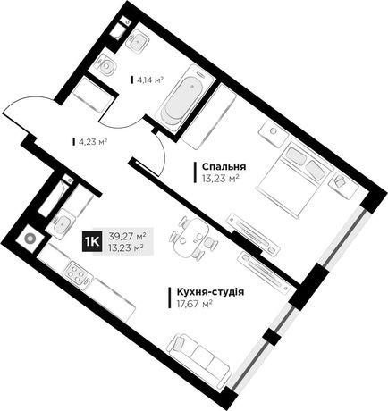 Продаж 1 кім. квартири ARTHOUSE park, вул Малоголосківська 39,27 кв.м