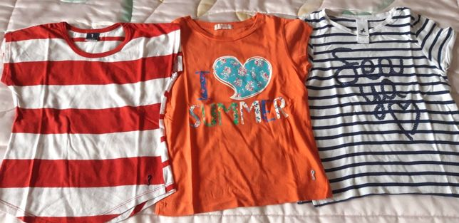 T-shirts para 6/7 anos