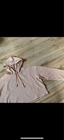 Krótka rozowa bluza H&m