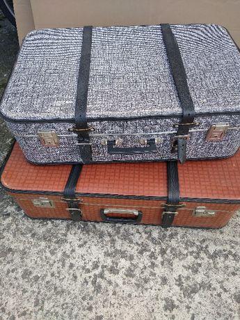 komplet 2 starych walizek