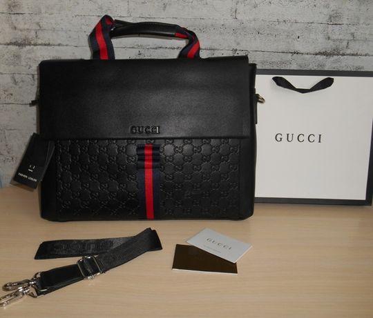 GUCCI Skorzana męska torba teczka męska aktówka, skóra, Włochy 9905