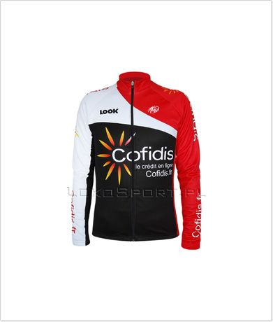 Ocieplana bluza kolarska COFIDIS, rozmiary od S do 4XL