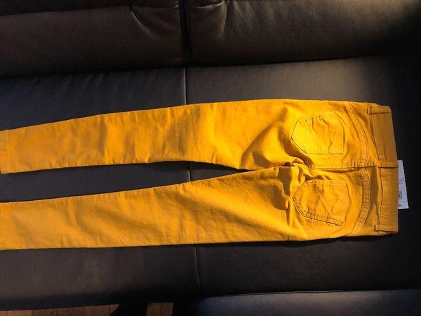 musztardowe spodnie Calzedonia XS