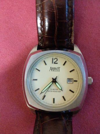 Zegarek kwarcowy Abbot skórzany pasek