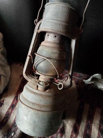 Lampa okopowa 1 , 2wś Niemcy Sygnowana niemiecka wojskowa lampa WH SS
