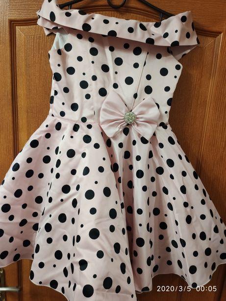 """Нарядное платье """"горох"""", стиль """"ретро"""" - стиляги."""