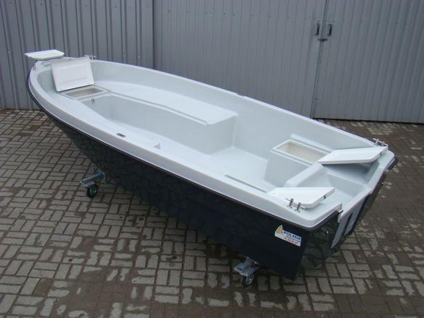 łódka wędkarska Romana 430 dwupłaszczowa,wysoka burta,5 schowków