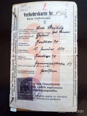 Verkehrskarte Karta Cyrkulacyjna