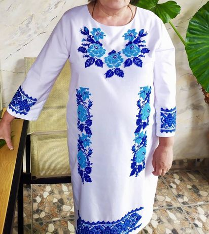 Плаття вишиванка бісер,платье вишиванка бисером.