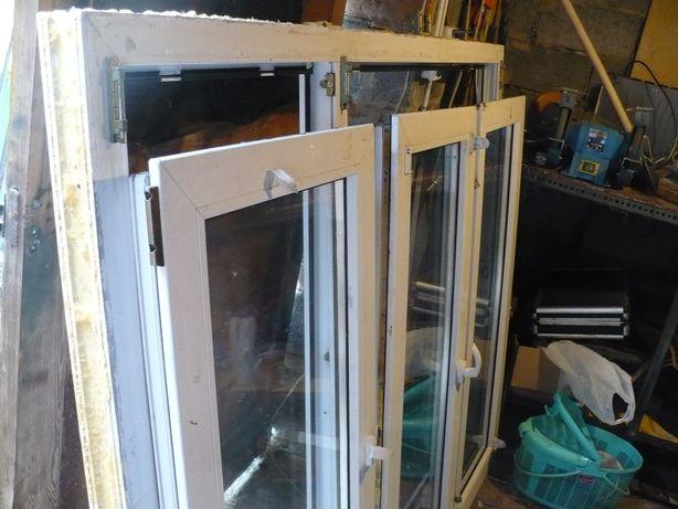 Okna trzy skrzydłowe z demontarzu